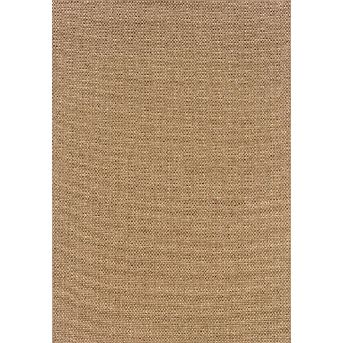 Karavia Khaki Poly Indoor/Outdoor 5x8 Area Rug