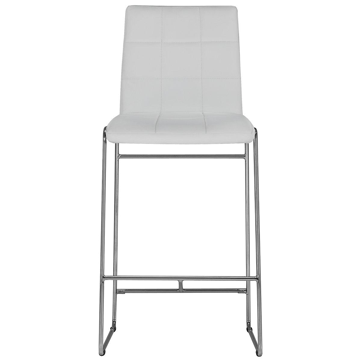 """Napoli White 30"""" Upholstered Barstool"""