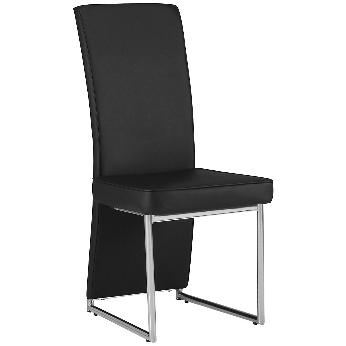 Paris Black Upholstered Side Chair