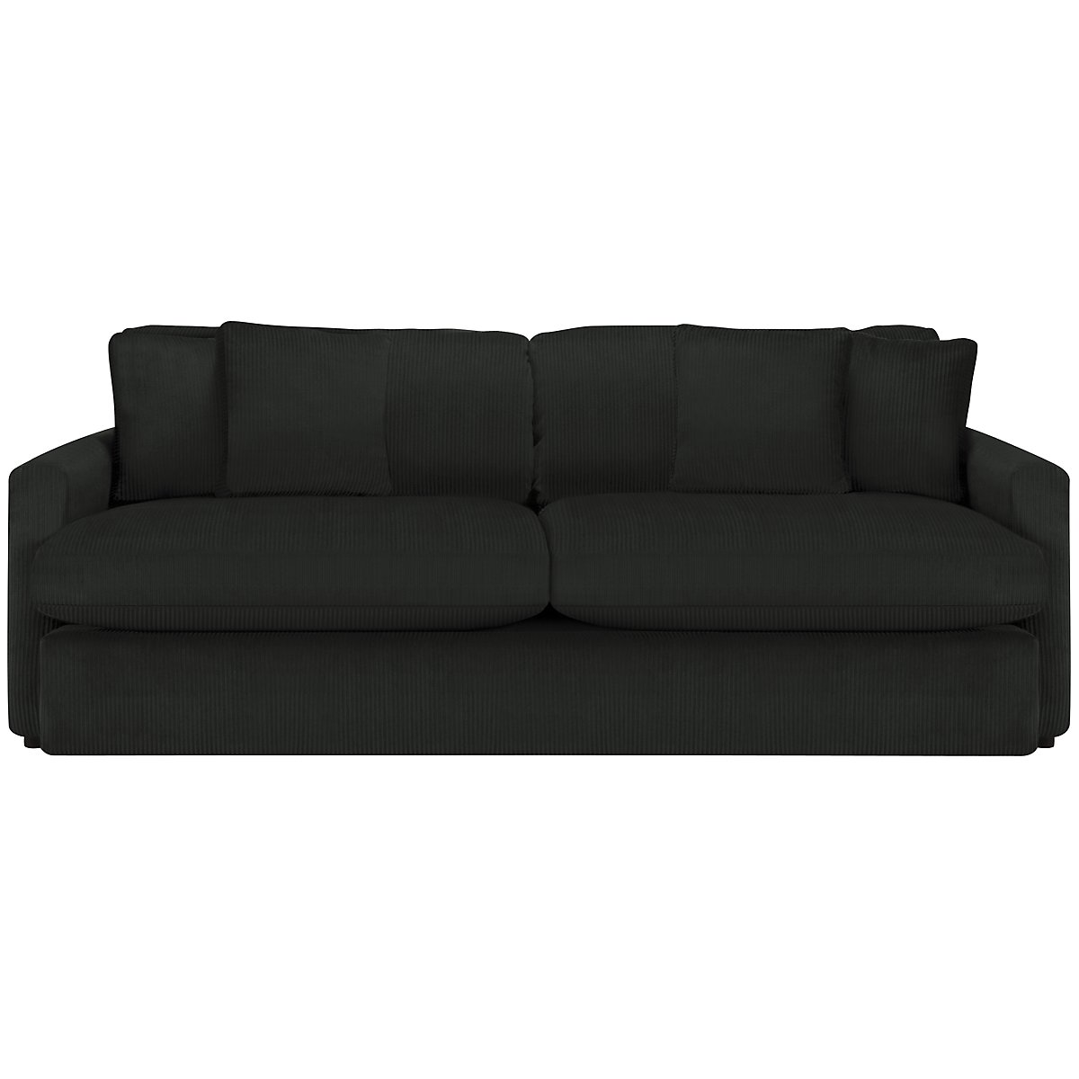 City furniture tara2 dk gray micro sofa for Black and grey couch