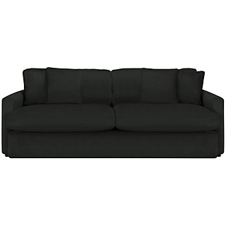 Tara2 Dark Gray Microfiber Sofa
