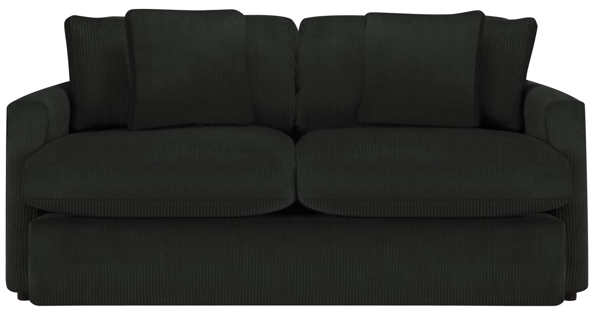 Tara2 Dark Gray Microfiber Loveseat