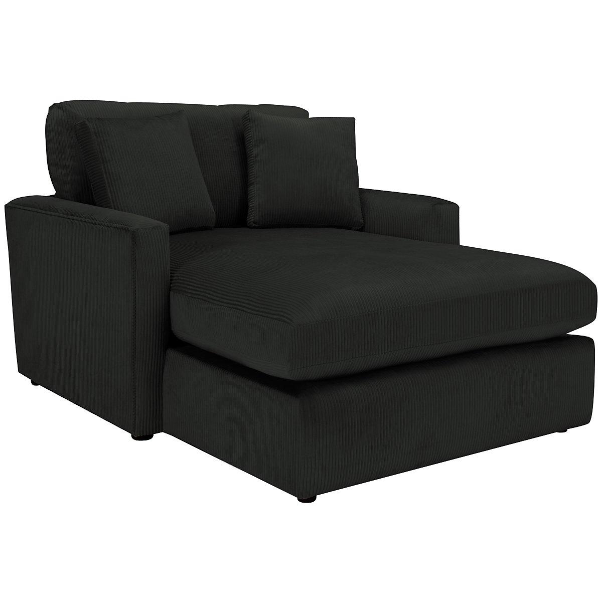 Tara2 Dark Gray Microfiber Chaise