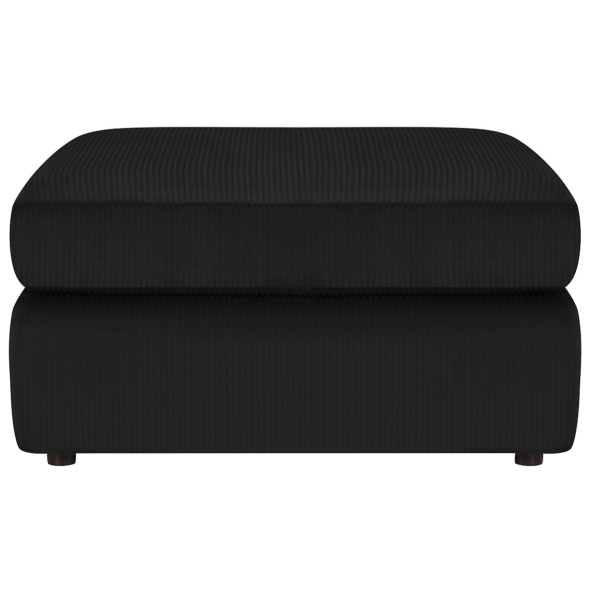 Tara2 Dark Gray Microfiber Cocktail Ottoman