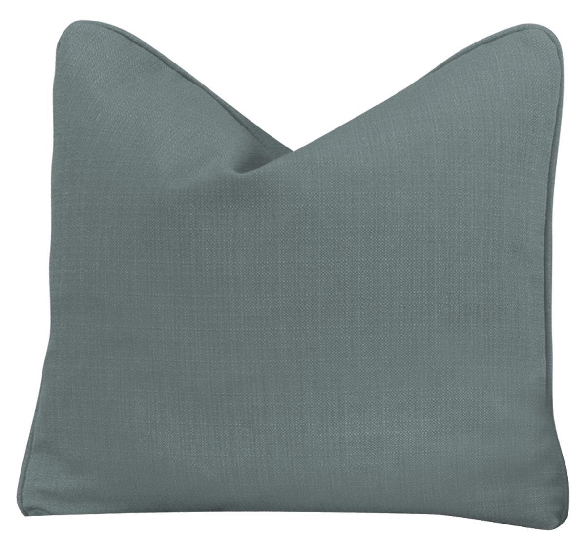 Klein Blue Fabric Square Accent Pillow