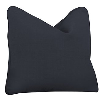Klein Dark Blue Fabric Square Accent Pillow