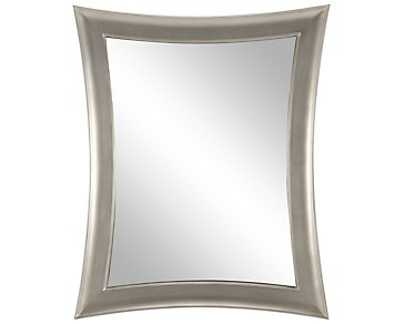 City furniture zander dk brown leaning mirror for Zander credit protection