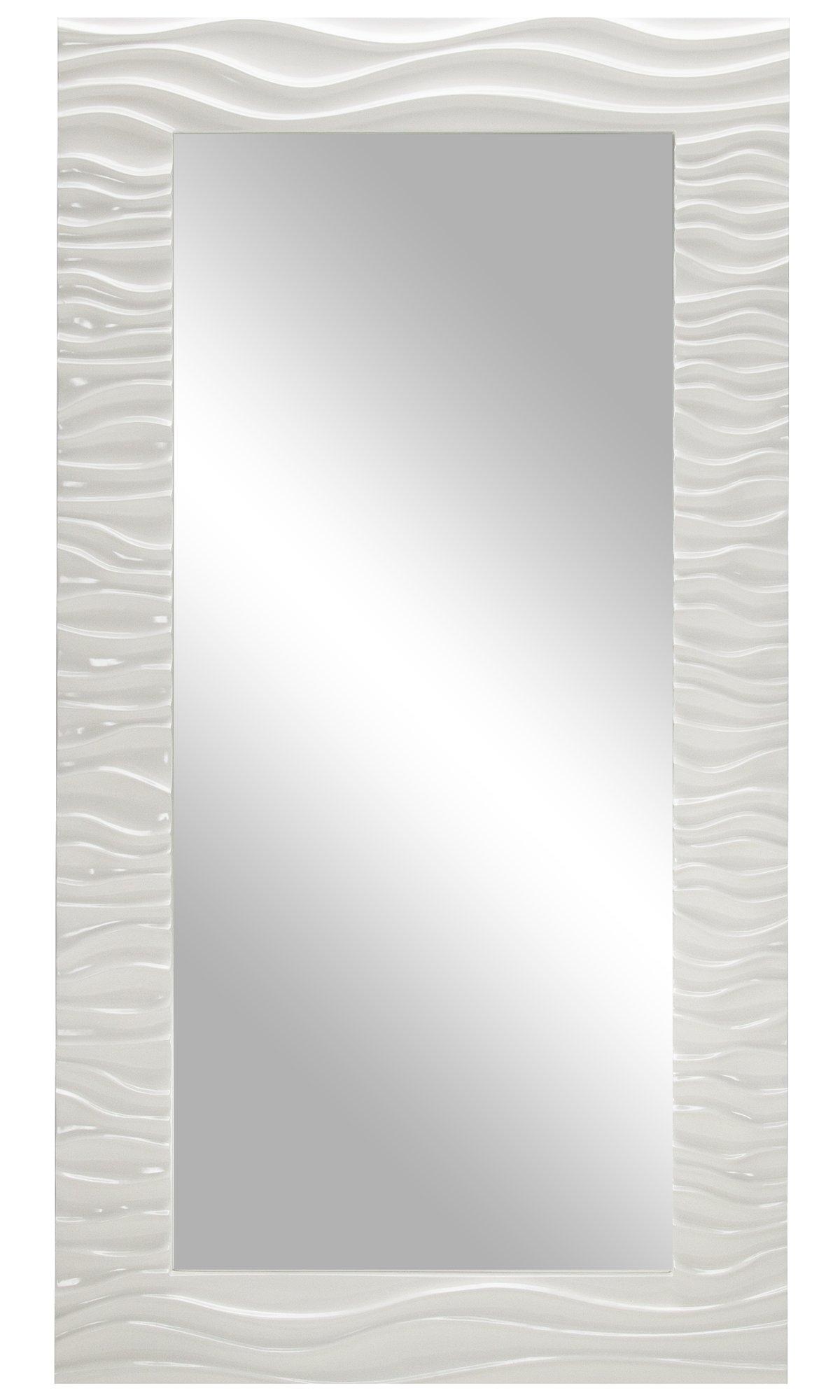 Ripple White Floor Mirror