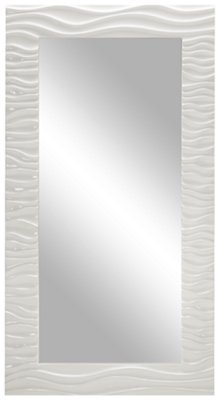 Ripple White Floor Mirror ...