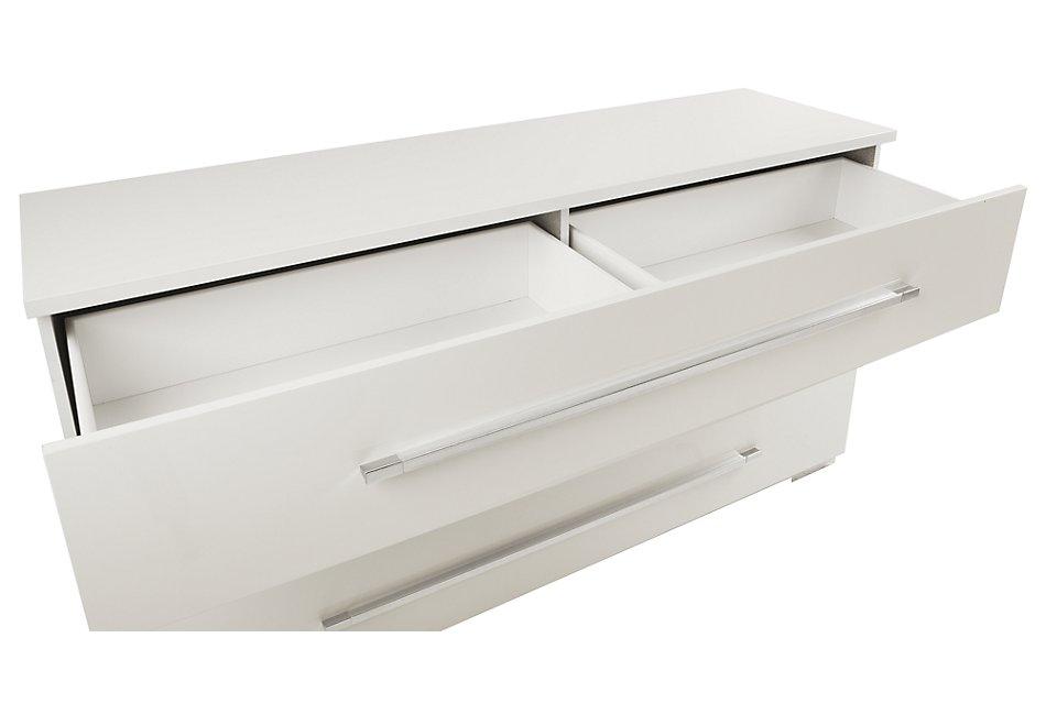 Dimora White Wood Dresser