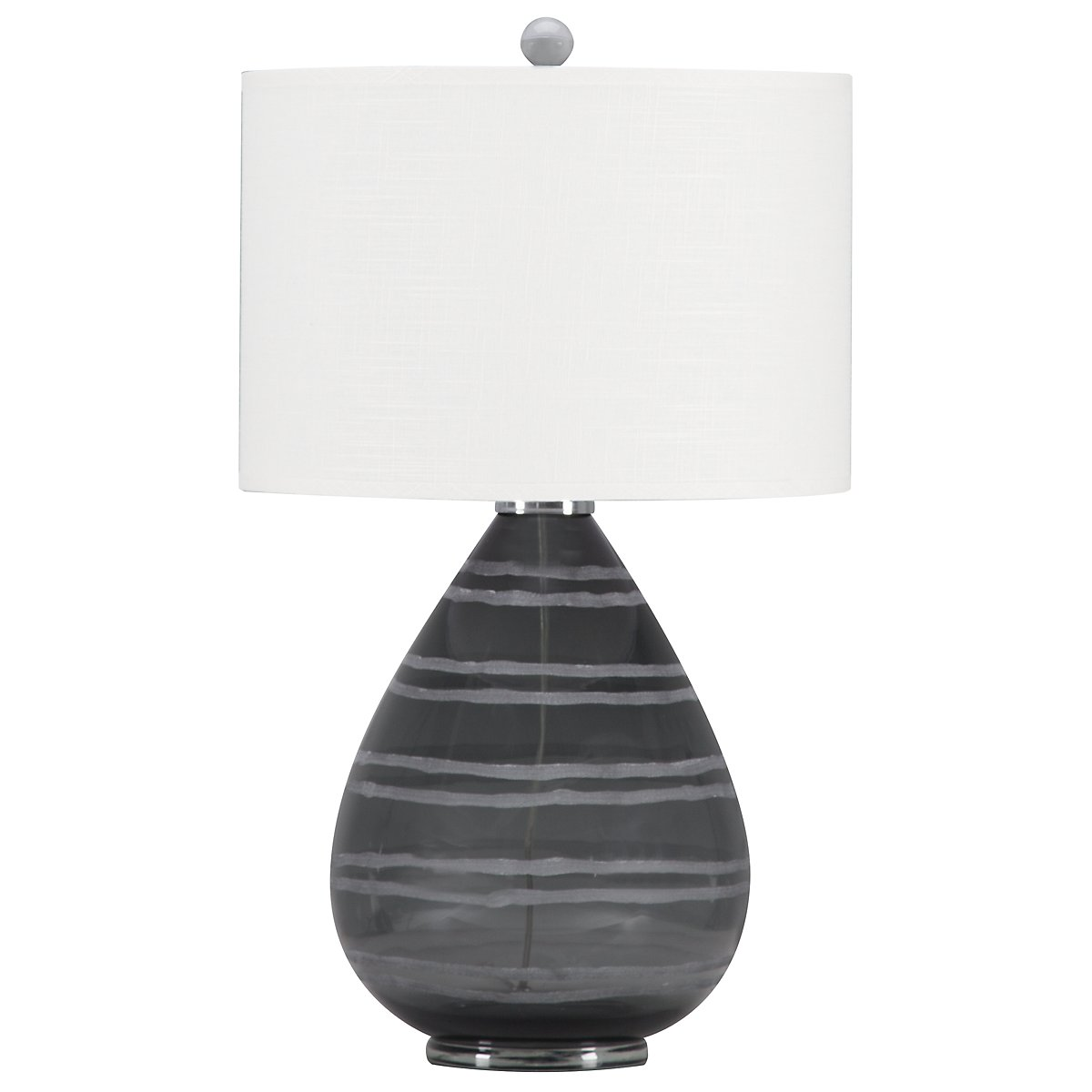 Portia Dark Gray Table Lamp