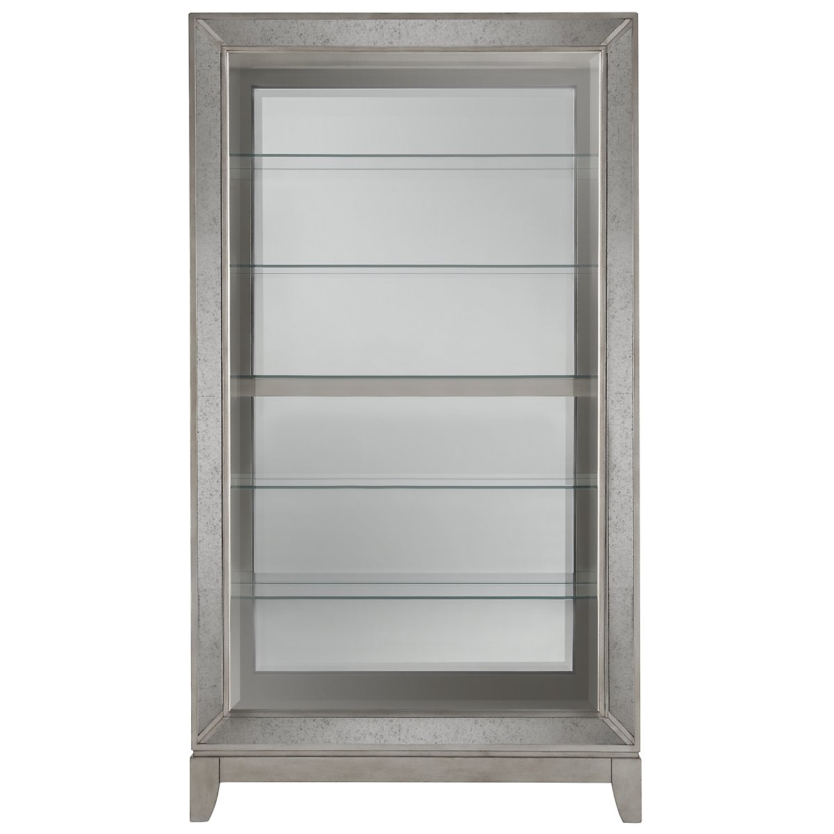 Ella Silver Mirrored Accent Piece