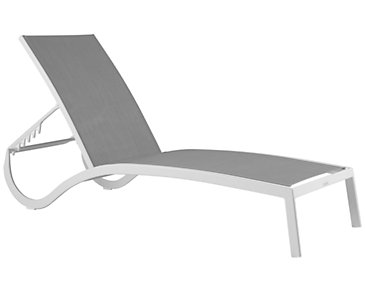 Lisbon Gray Sling Chaise