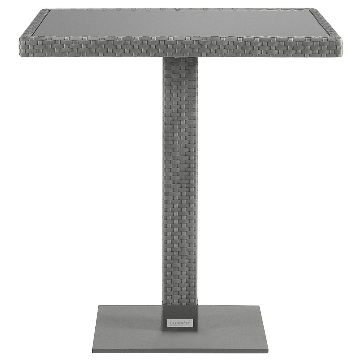"Lisbon Gray 27"" Square Table"