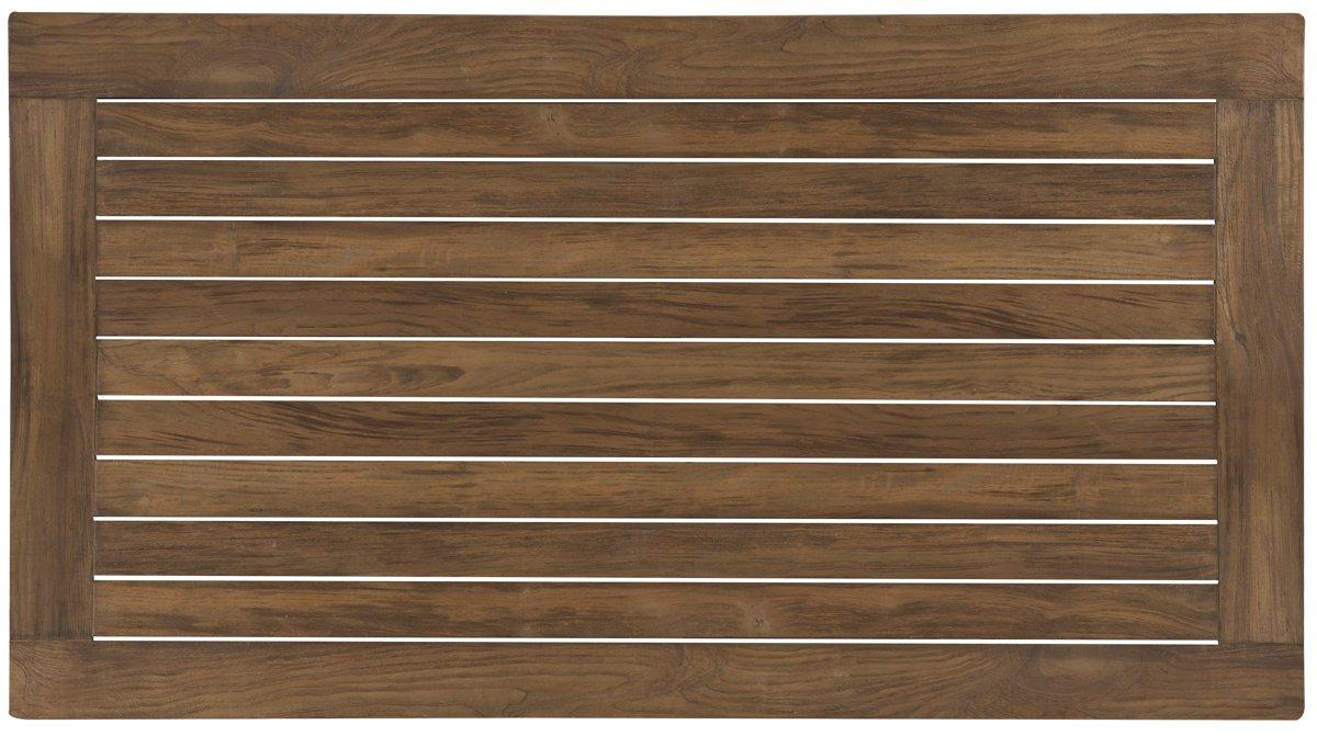 Canyon Dark Tone Teak Rectangular Table