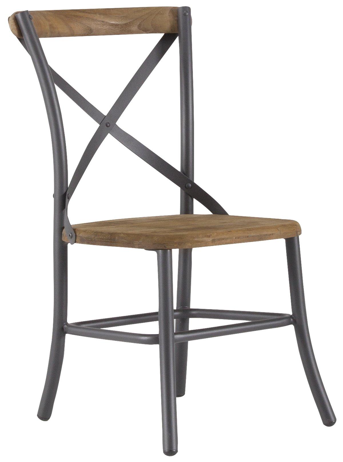 Canyon Dark Tone Teak Side Chair