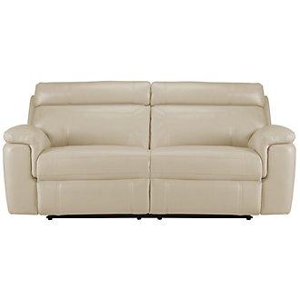 Gamma Beige Microfiber Reclining Sofa