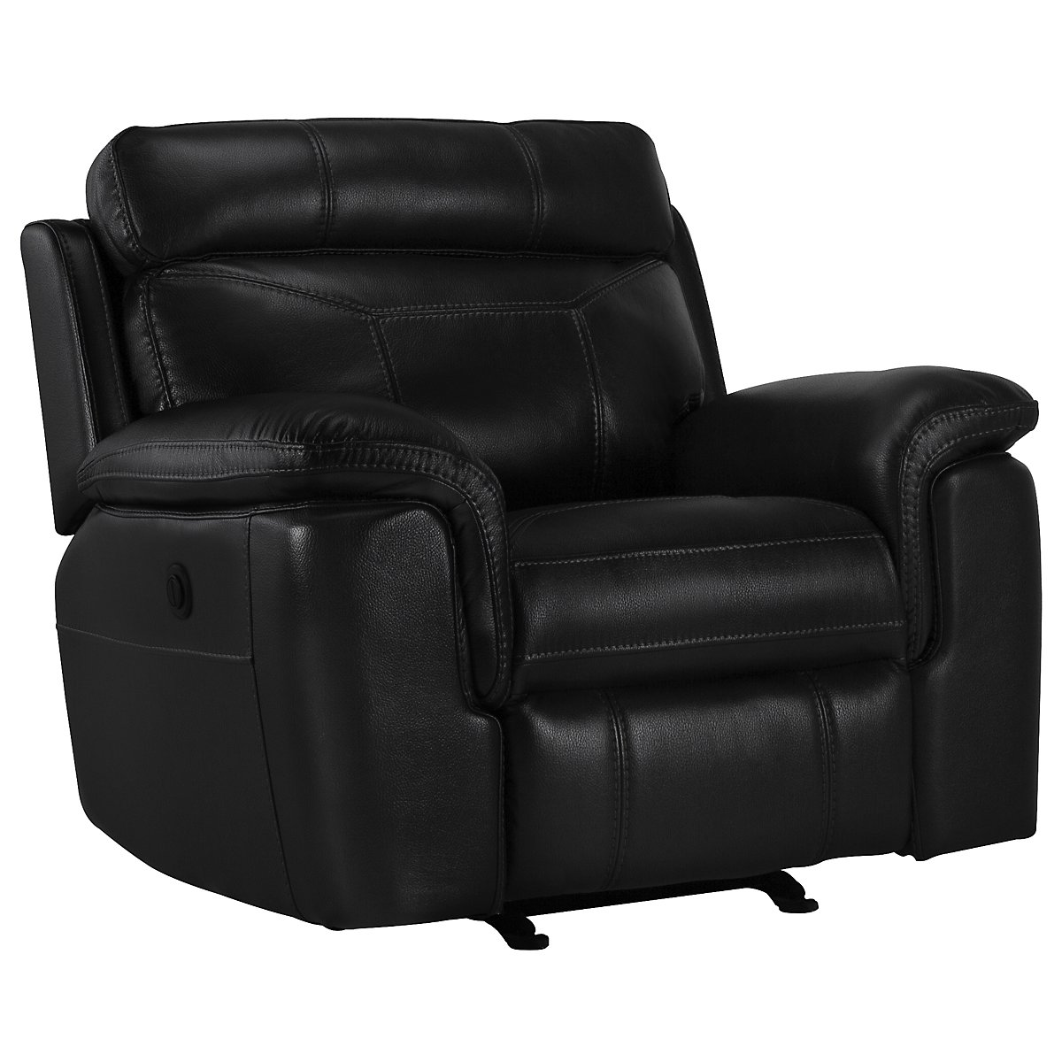 Gamma Black Microfiber Power Recliner