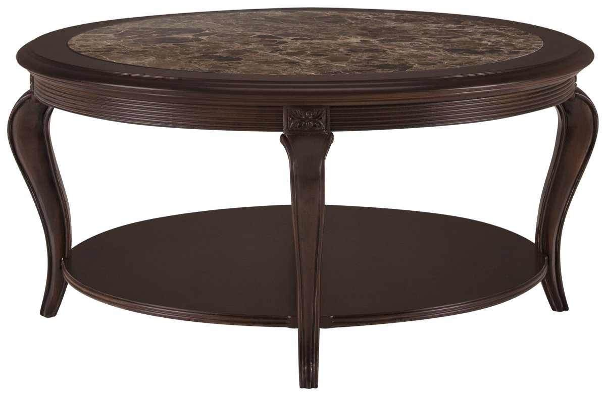 city furniture: belmont dark tone marble round coffee table