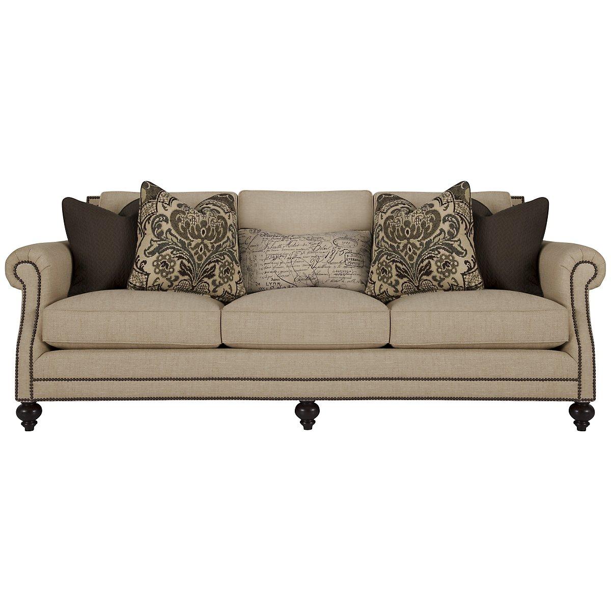 Brae Beige Fabric Sofa