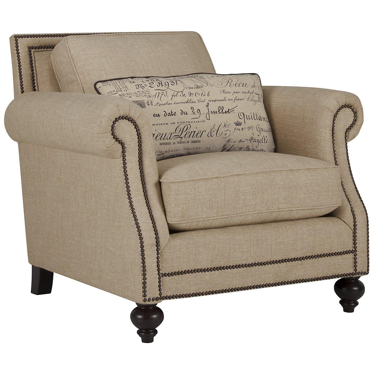 Brae Beige Fabric Chair