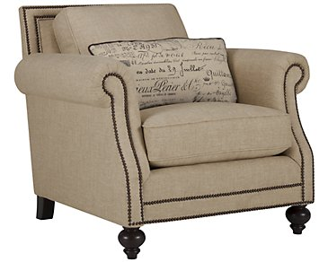 Brae Beige Fabric Chair