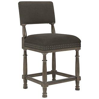 """Belgian Oak Light Tone 24"""" Upholstered Barstool"""