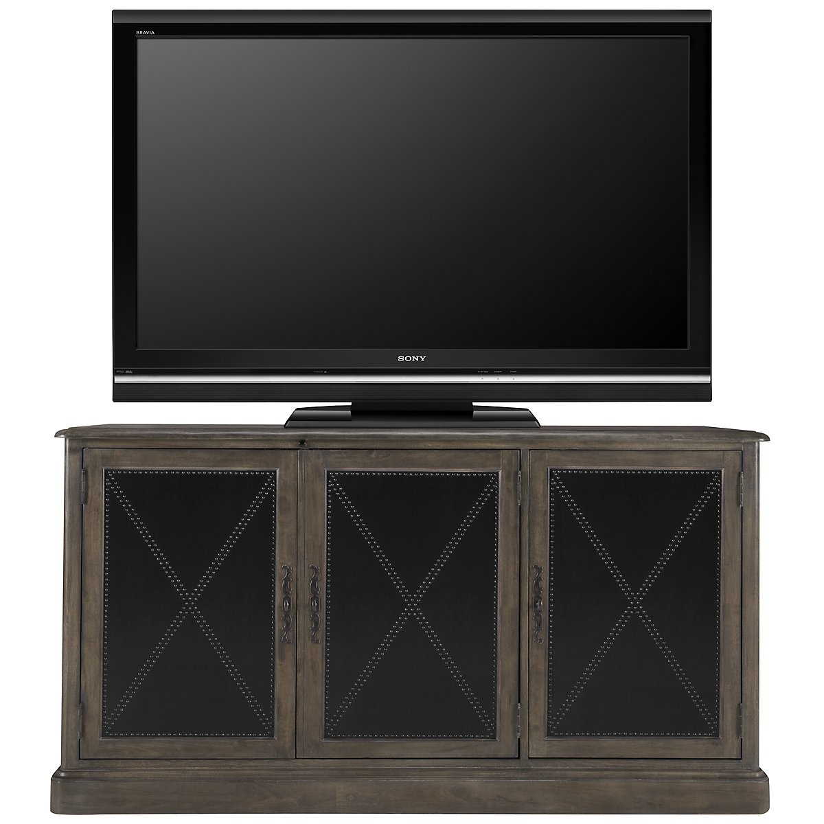"Belgian Oak Light Tone 68"" TV Stand"
