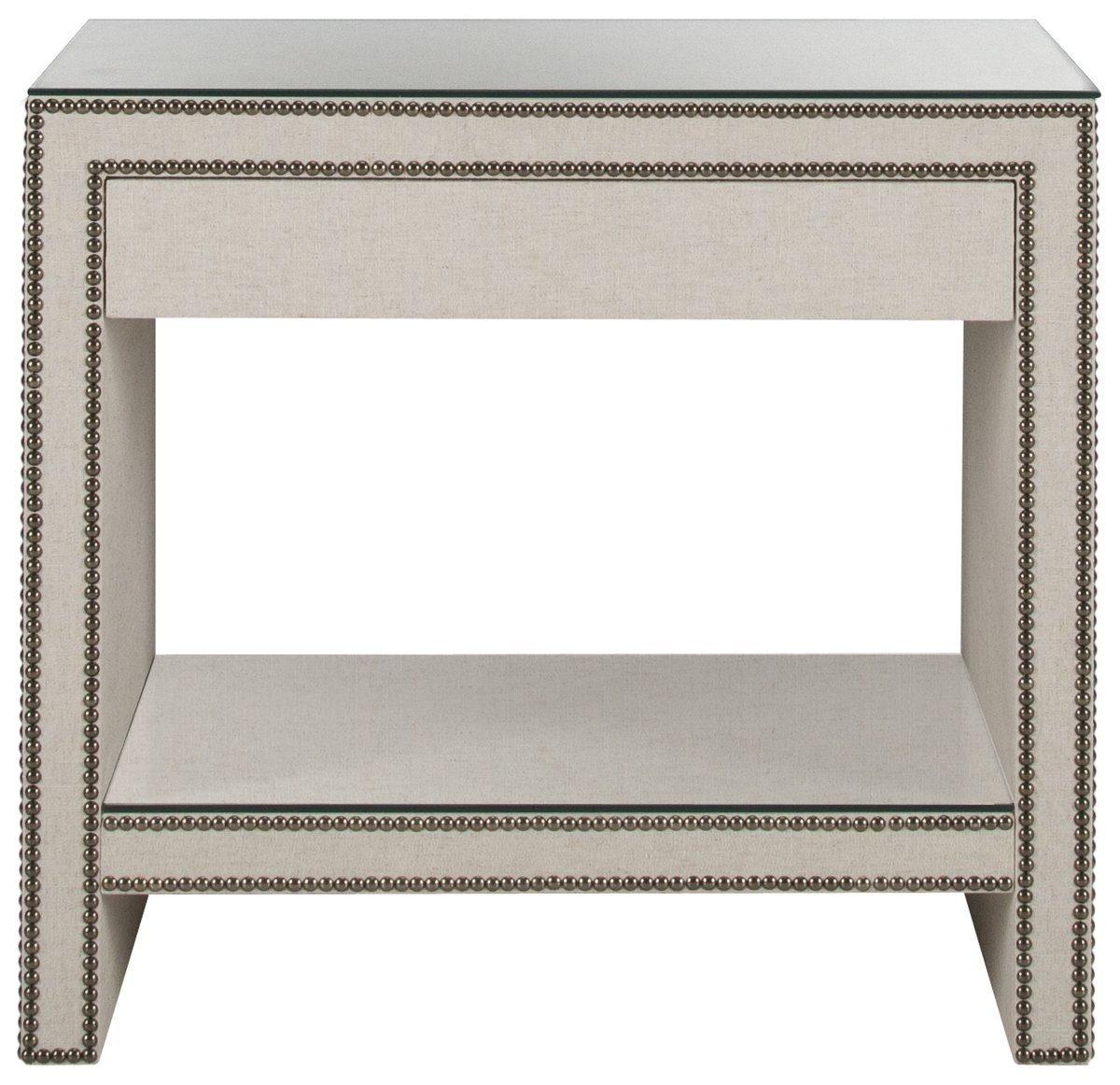 City Furniture Weston Lt Beige Linen Nightstand