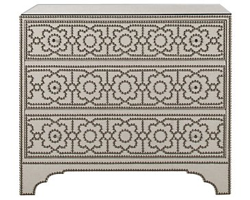 Cabrillo Light Beige Linen Accent Chest