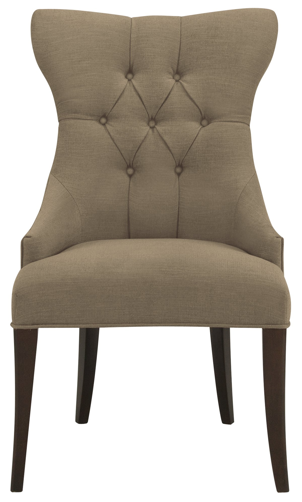 Deco Khaki Upholstered Side Chair