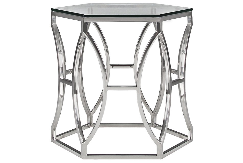 Argent Glass End Table | Living Room - End Tables | City ...