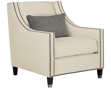 Palisades Light Beige Fabric Chair