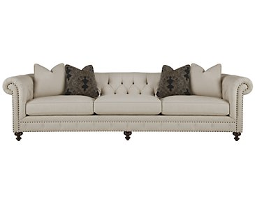 Riviera Light Beige Fabric Large Sofa