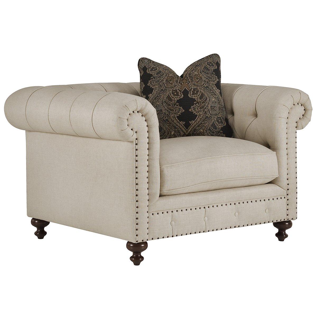 Riviera Light Beige Fabric Chair