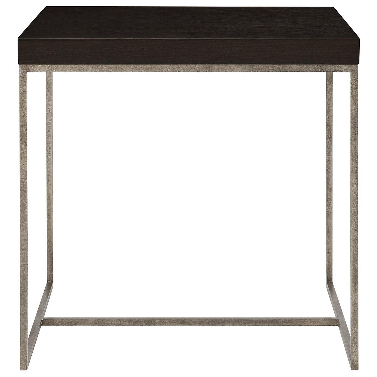 Tocara Dark Tone Square End Table