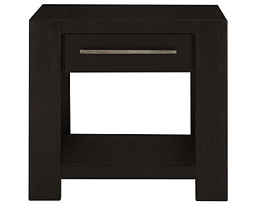 Tocara Dark Tone Storage End Table