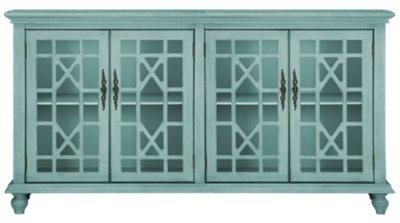 Alexis Teal Four Door Cabinet