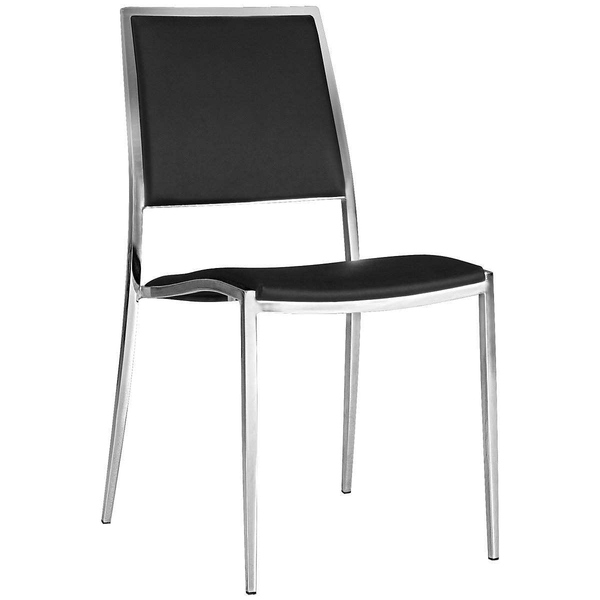 Bistro Black Upholstered Side Chair