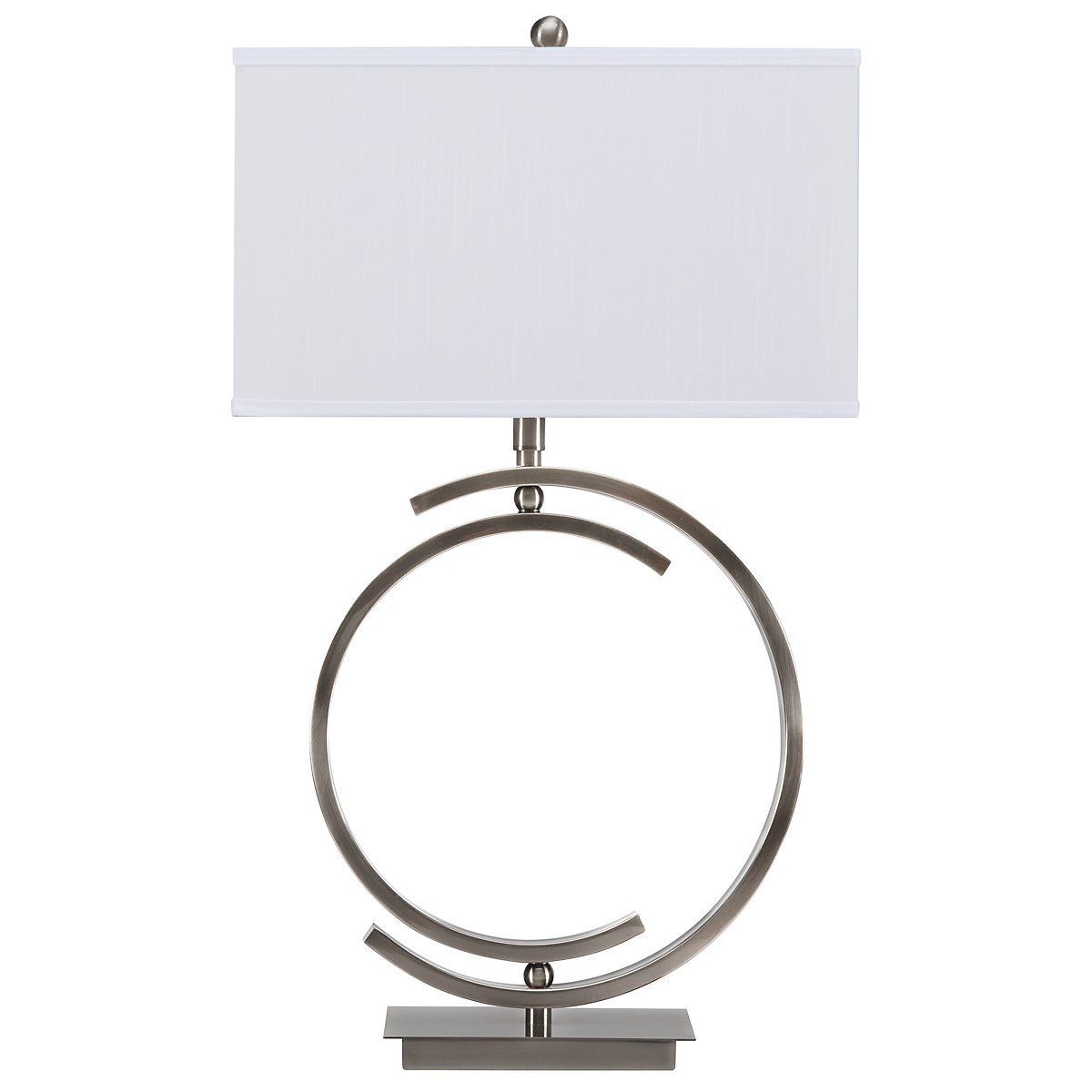 Circle Pewter Table Lamp