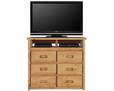 Cinnamon2 Mid Tone Large Media Chest