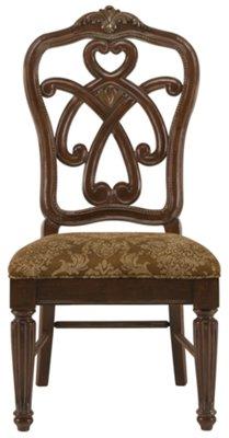 Regal Dark Tone Round Table U0026 4 Wood Chairs
