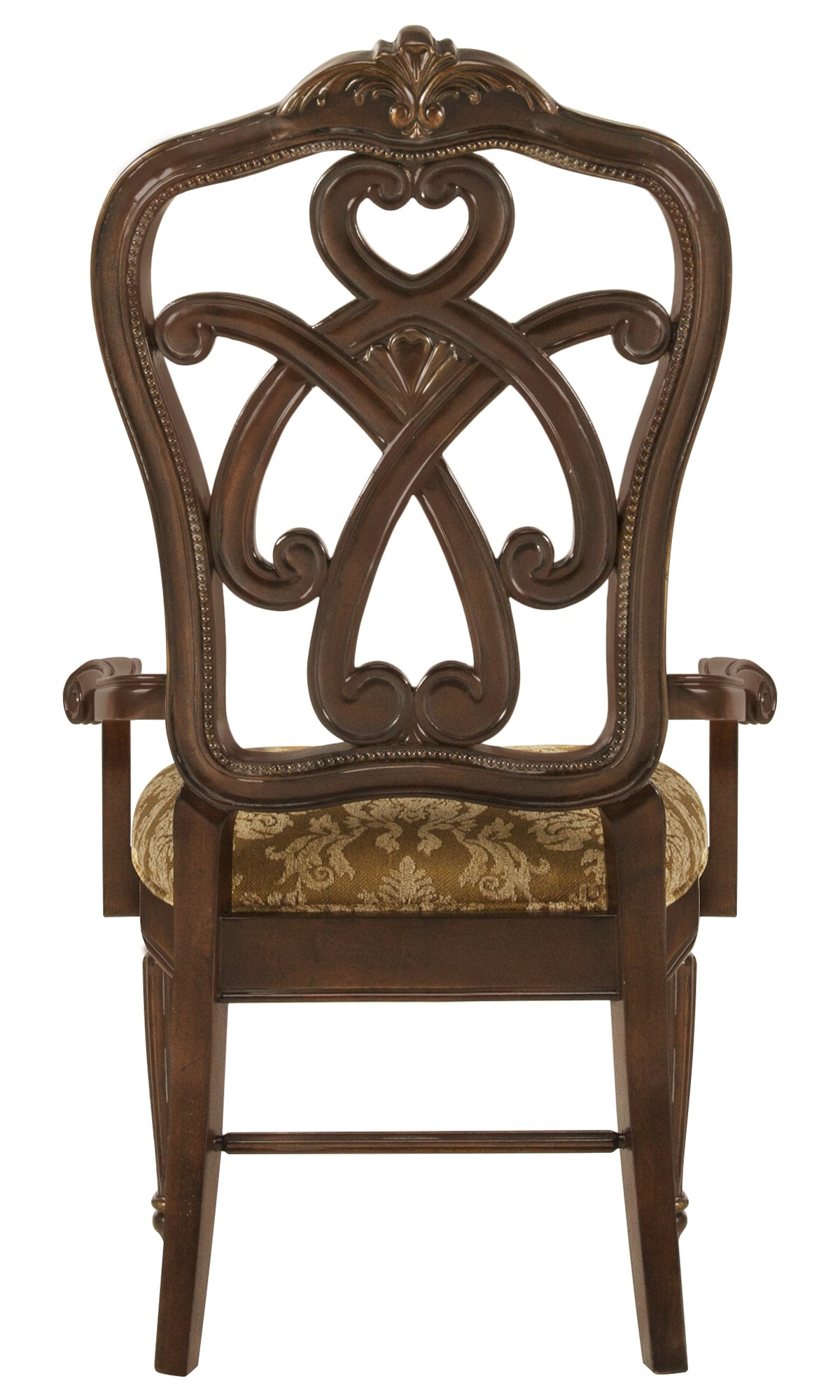 Regal Dark Tone Wood Wood Arm Chair