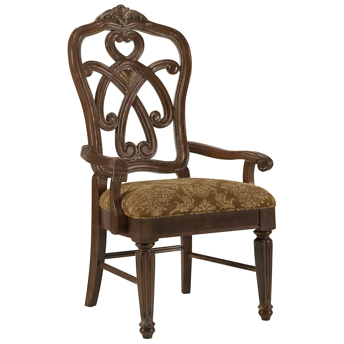 Regal Dark Tone Wood Arm Chair