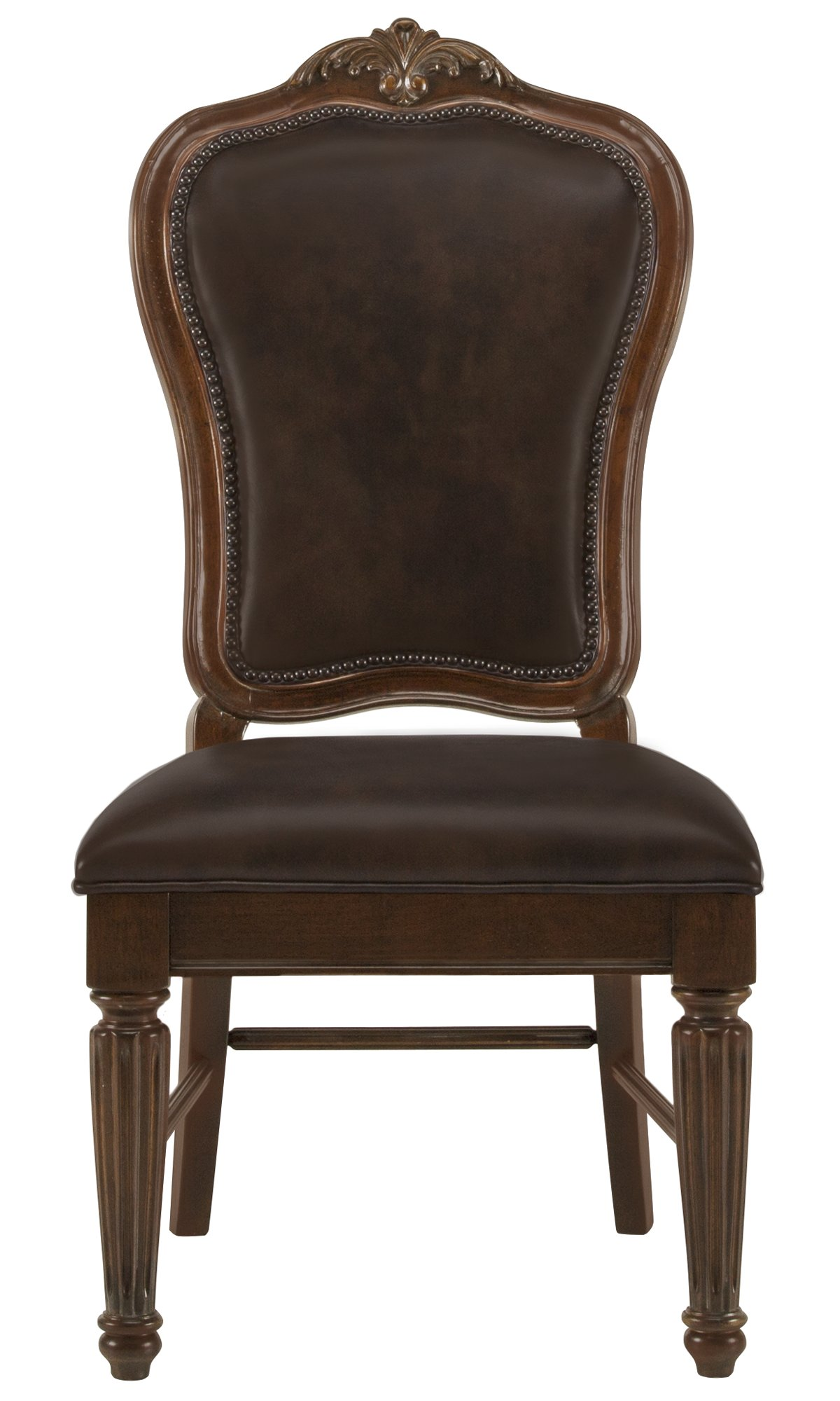 Regal Dark Tone Leather Side Chair