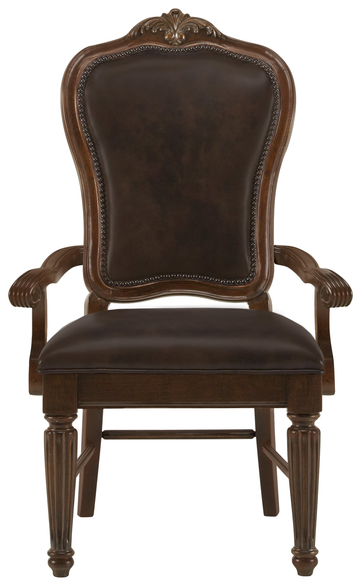 Regal Dark Tone Leather Arm Chair