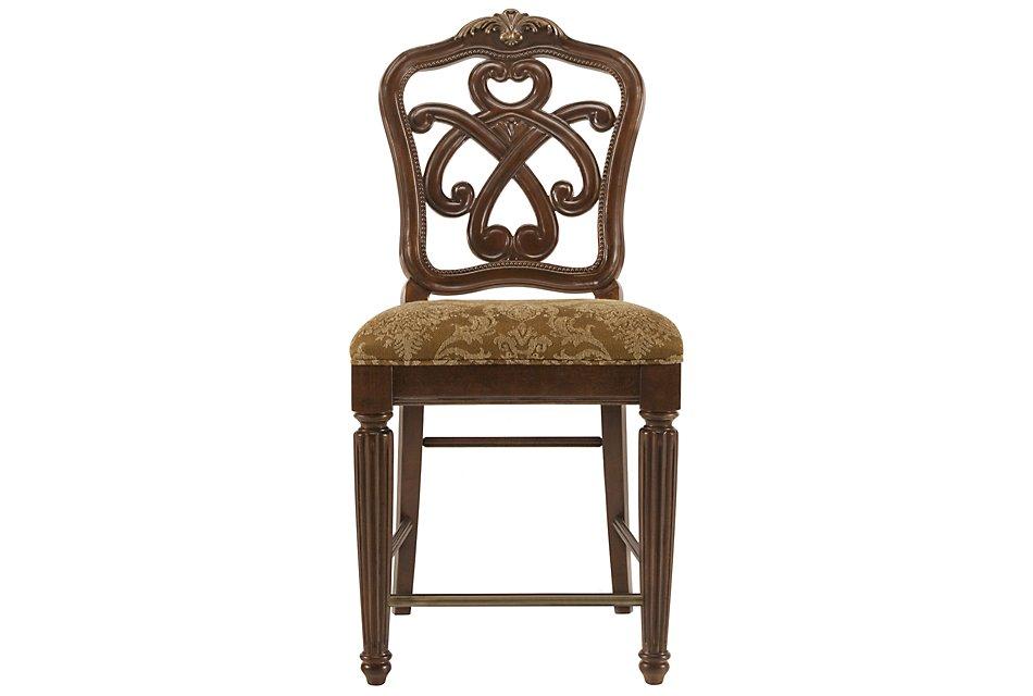 "Regal Dark Tone 24"" Wood Barstool"