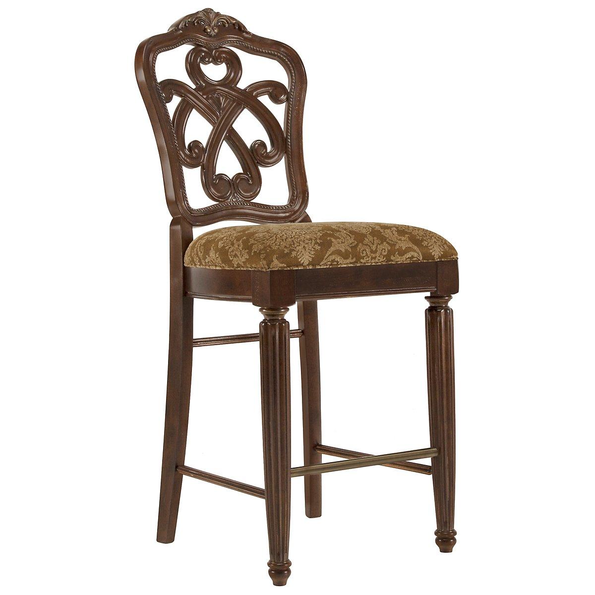 "Regal Dark Tone 30"" Wood Barstool"