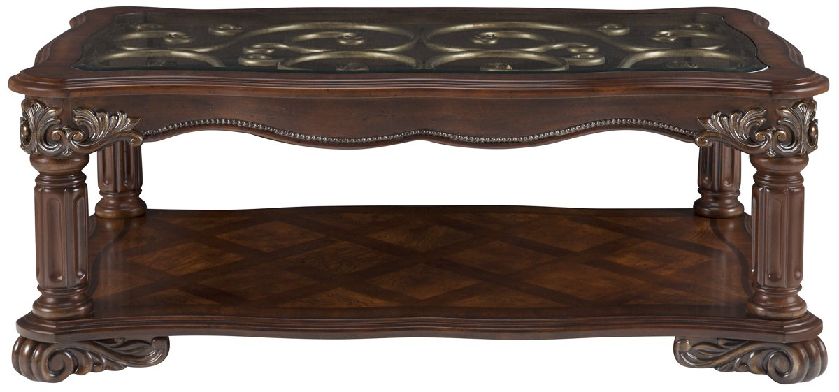 Regal Dark Tone Glass Rectangular Coffee Table