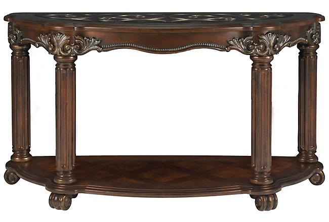 Regal Dark Tone Glass Sofa Table